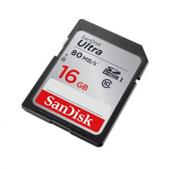 Карта памяти SanDisk SDHC 16 Gb Class 10 UHS-I (SDSDUNC-016G-GN6IN)