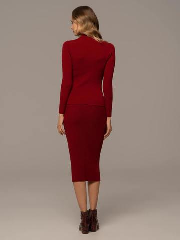 Женская юбка красного цвета из шерсти - фото 4