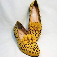 Красивые туфли босоножки женские Phany 103-28 Yellow.