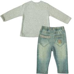 Папитто. Комплект кофточка и штанишки с вышивкой для девочки FASHION JEANS вид 2
