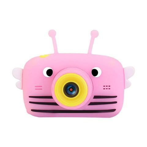 Фотоаппарат детский SmileZoom Пчелка с селфи-камерой / Розовый
