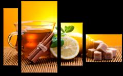 """Модульная картина """"Чай с лимоном"""""""