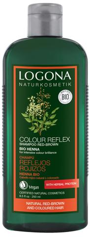 LOGONA COLOR REFLEX Шампунь для рыжих и коричневых волос волос с Хной