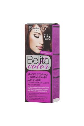 Белита-М Belita Color Стойкая краска с витаминами для волос тон №7.42 Каштан