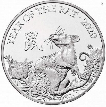 5 фунтов. Год Крысы 2020. Великобритания. 2019 год. В буклете