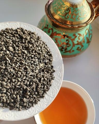 Зелёный чай Ганпаудер 100 грамм от eco-apple
