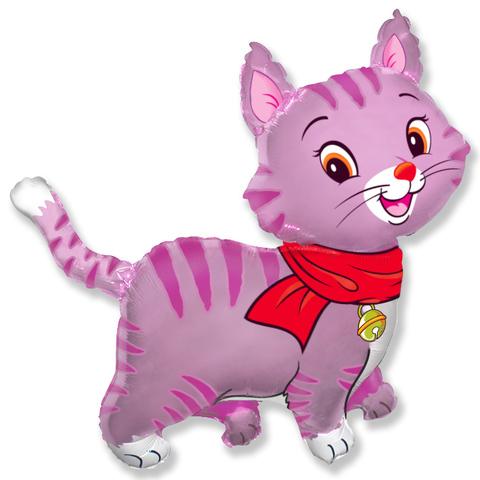 Шар-фигура Котенок розовый, 81 см