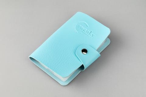 Кейс для пластин Swanky Stamping, на 20 пластин, голубой