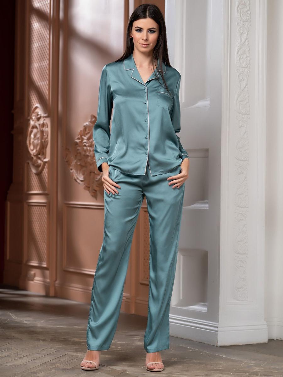 Домашние брючные комплекты Комплект брючный  Mia-Amore Джулия JULIA 8736 изумруд брюк1.jpg
