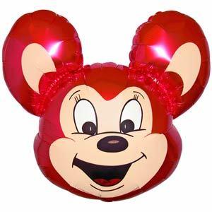 Фольгированный шар Мышонок малиновый 68 X 48см
