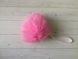 Помпон натуральный кролик розовый 7-10 см