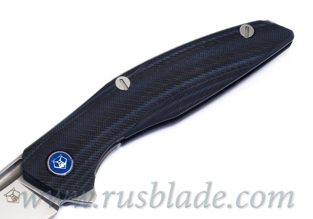 Shirogorov 111 M390 G10 black blue 3D MRBS