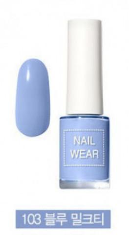 Лак для ногтей The Saem Nail Wear 103 Blue Milk Tea 7 мл