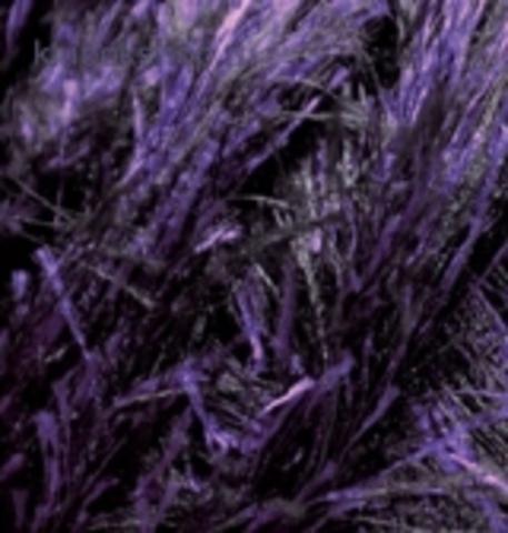 Пряжа Decofur (Alize) 1380 Черный фиолетовый, фото