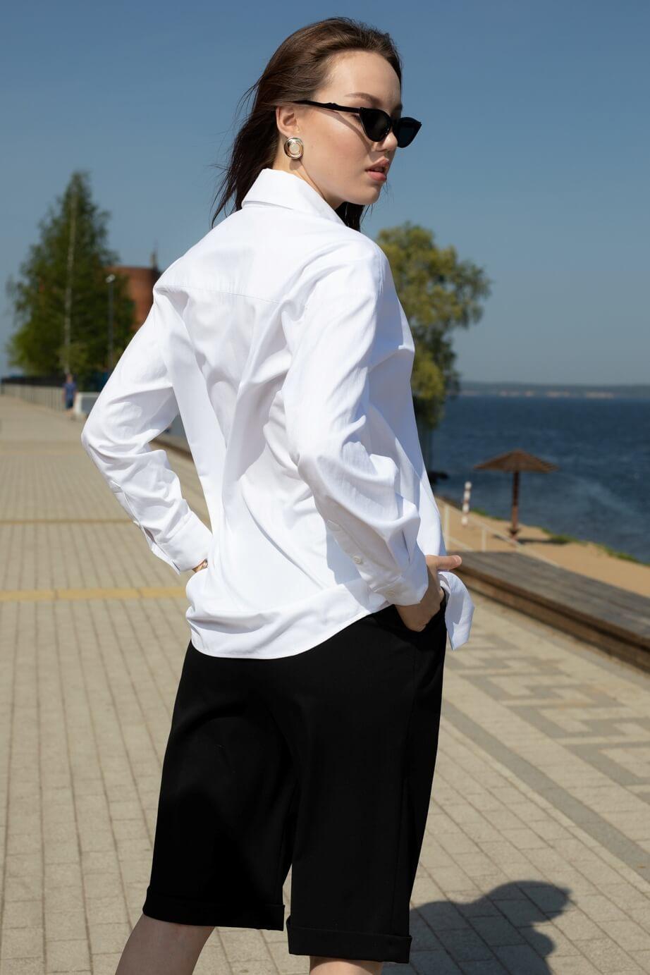 Рубашка мужского кроя с карманом