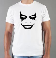 Футболка с принтом Джокер, Тёмный рыцарь (Joker, The Dark Knight, Хит Леджер) белая 0043
