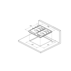 Варочная поверхность Kuppersberg FV6TGRZ C Bronze - схема