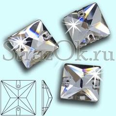 Стразы пришивные стеклянные Square Crystal, Квадрат Кристал, прозрачный яркий на StrazOK.ru