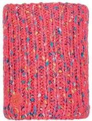 Шарф-труба вязаный с флисовой подкладкой Buff Neckwarmer Knitted Polar Yssik Pink Fluor