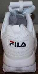 Стильные женские кроссовки Fila Disruptor 2 all white RN-91175