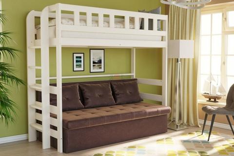 Кровать двухъярусная из массива №4