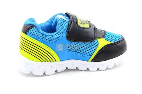 Светящиеся кроссовки Хот Вилс (Hot Wheels) на липучке для мальчиков, цвет синий. Изображение 4 из 15.