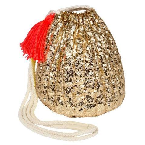 Золотой мешочек-сумочка