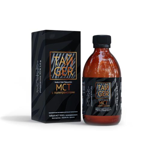 ТАЙGER MCT масло с полипренолами, 95%, 1 г, 250 мл