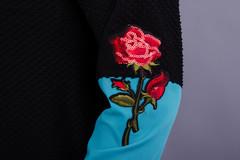 Аника цветок. Красивая кофточка для женщин. Бирюза.