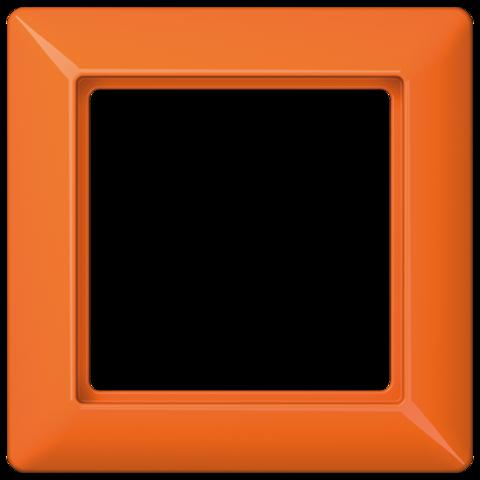 Рамка на 1 пост. Цвет Блестящий оранжевый. JUNG AS. AS581BFO