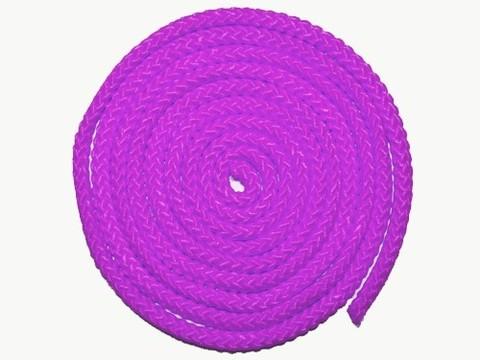 Скакалка гимнастическая, цветная ткань. Длина 3 метра. Цвет розовый. :(АВ251):