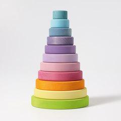 Пирамида большая пастельного цвета (Grimms)