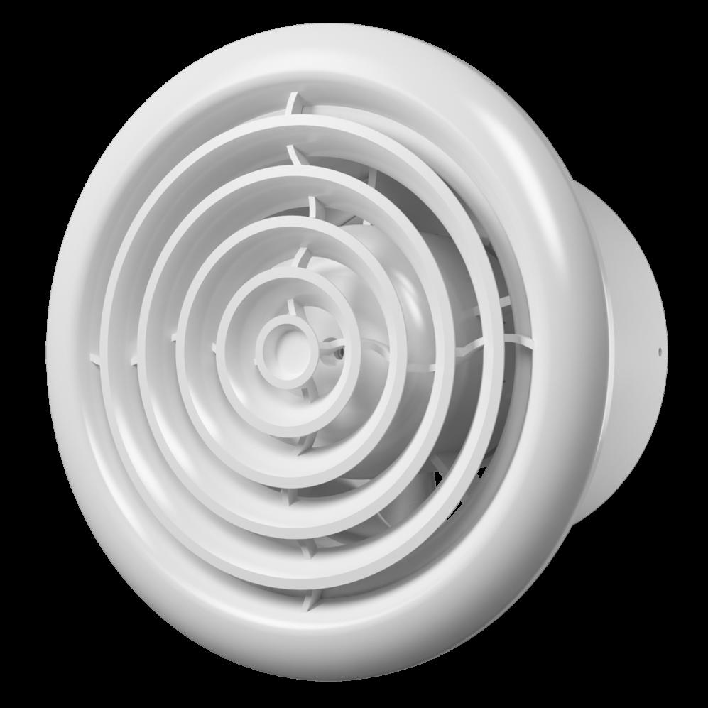 Flow Вентилятор FLOW 4C BB D100 (двигатель на шарикоподшипниках, с обратным клапаном) Флоу.png