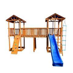 Детская площадка М22-1 с узким скалодромом и тентовыми крышами