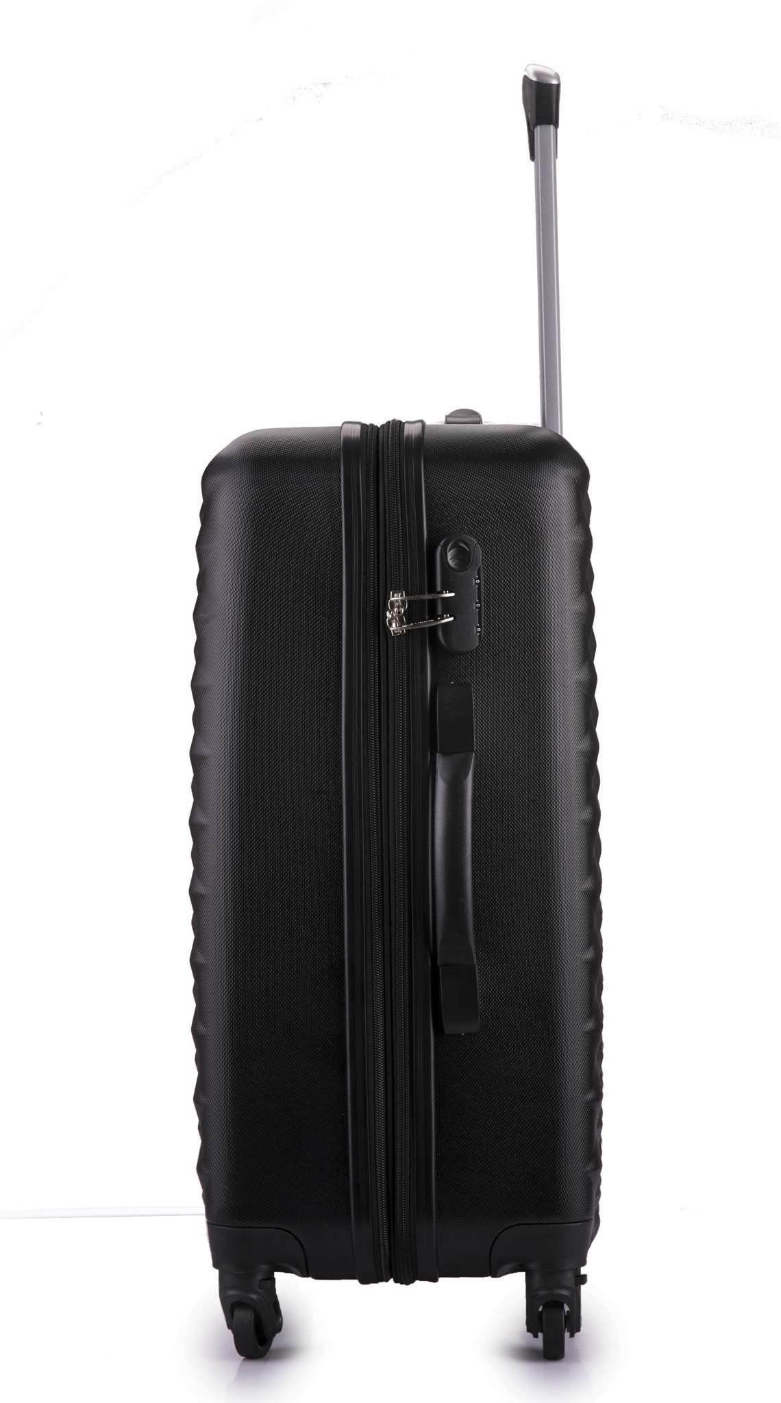 Чемодан с расширением L'case Phatthaya-28 Черный (XL)