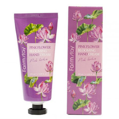 Farmstay Flower Blooming Hand Cream Pink Lotus - Крем для рук с розовым лотосом