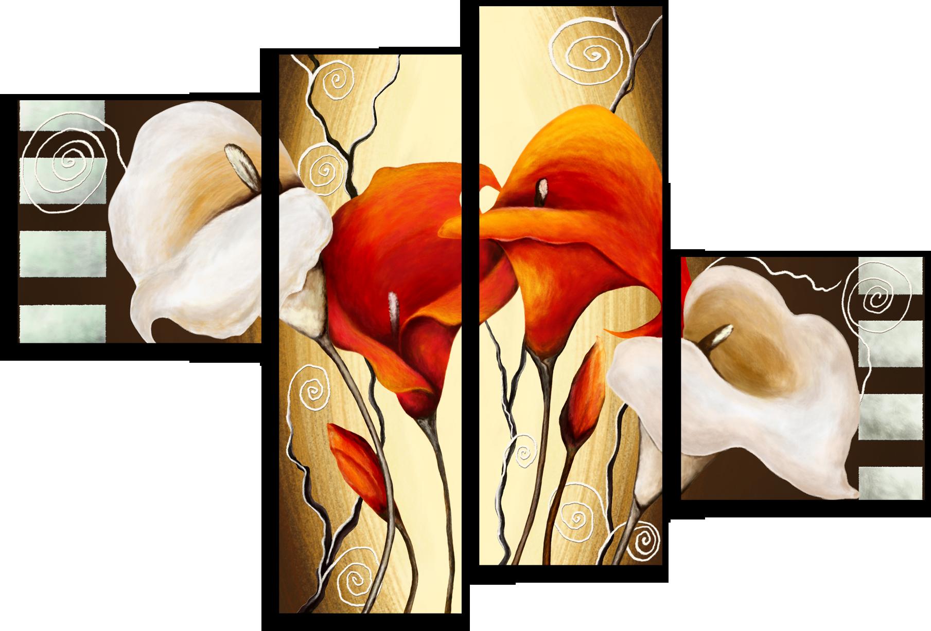 """Цветы Модульная картина """"Коричневый цветок"""" М315.png"""