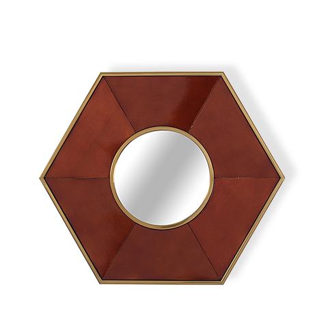 Зеркало дизайнерское Rhombus by Light Room (коричневый)