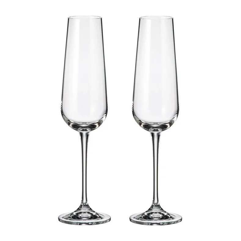 Фото - Набор бокалов для шампанского Crystalite Bohemia Ardea/Amudsen 200 мл, 2 шт набор бокалов первый мебельный набор бокалов для вина crystalite bohemia ardea amundsen 450мл 6 шт