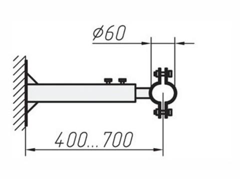Кронштейны для крепления мачт 0,4…0,7