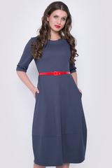 """<p>Это платье - самый простой способ изменить свои образ и настроение! Платье отрезное по талии и юбкой """"баллон"""" с карманами. По спинке замок. (Длина: 44-106см; 46-107см; 48-108см; 50-109 см)</p>"""