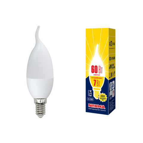 LED-CW37-7W/NW/E14/FR/NR Лампа светодиодная. Форма