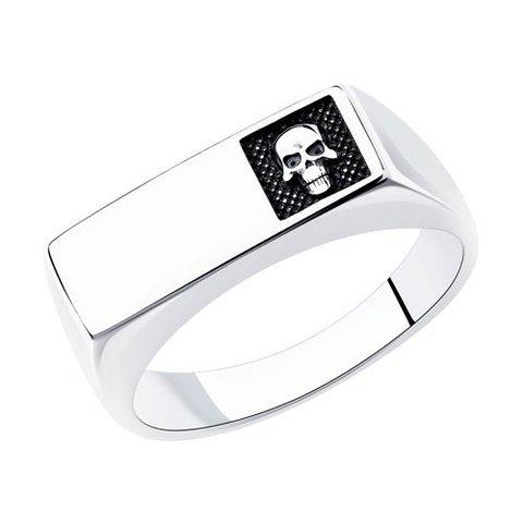 95010144 - Кольцо из серебра Череп