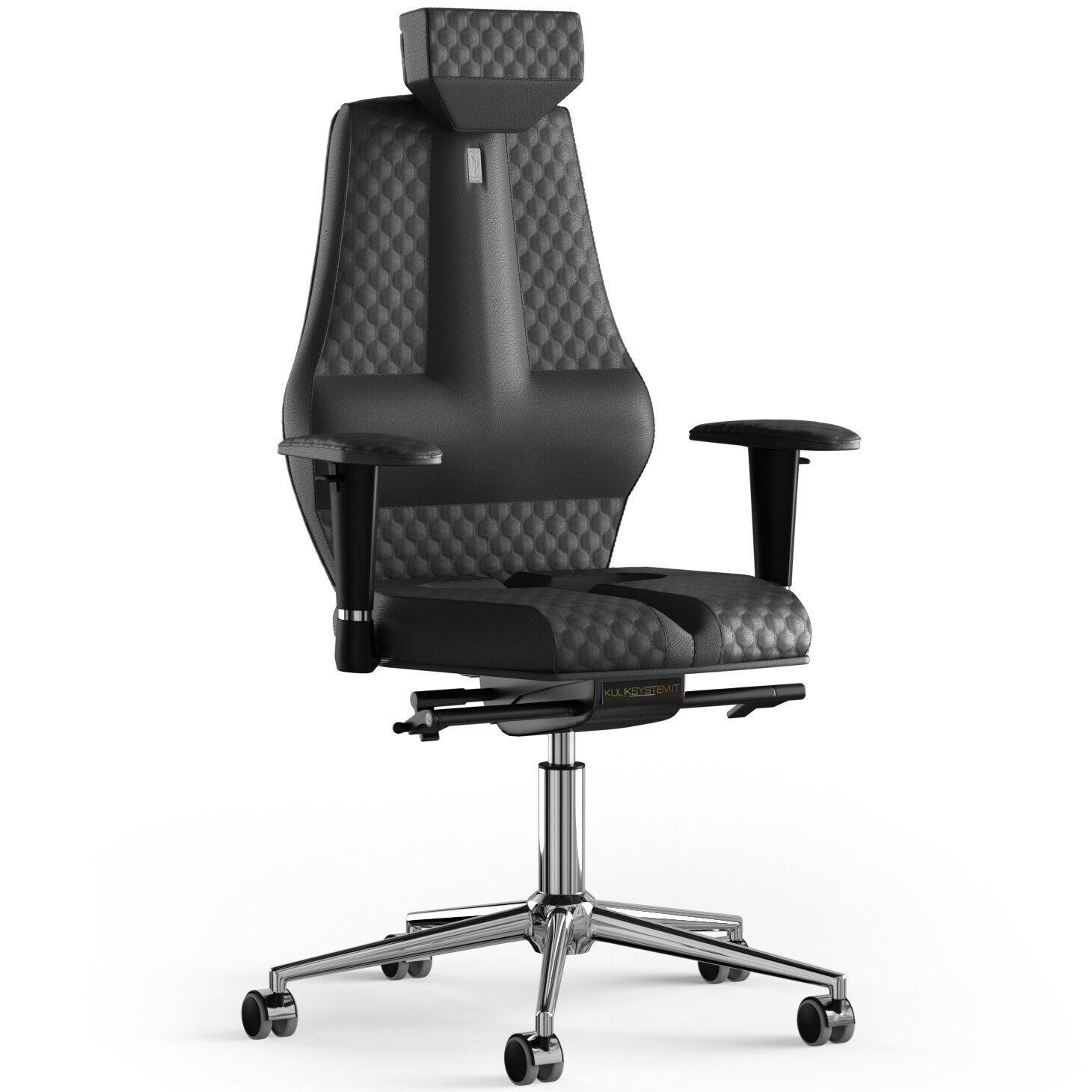 Кресло KULIK SYSTEM NANO Кожа с подголовником со строчкой