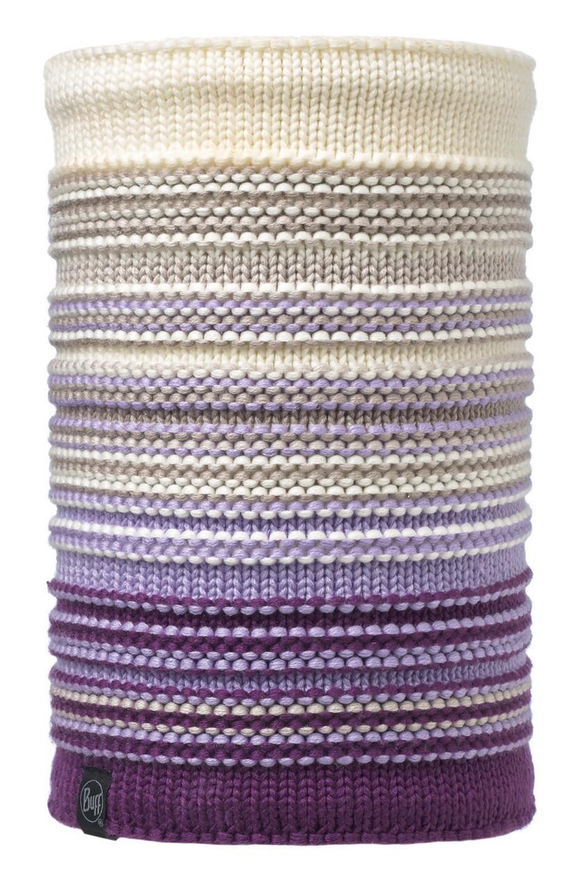 Вязаные шарфы Вязаный шарф-труба с флисовой подкладкой Buff Neper Violet 113347.619.10.00.jpg