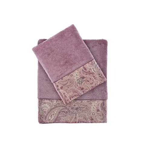 Набор полотенец  Etto (фиолетовый) 2 предмета TIVOLYO HOME Турция