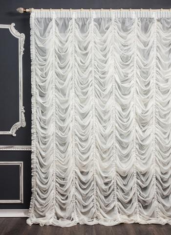 Готовая французская штора Амели белый