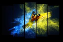 """Модульная картина """"Шикарный попугай"""""""