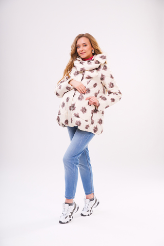 Куртка для беременных 09263 крем/розы капучино