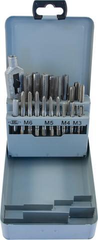 Набор метчиков T-COMBO трехпроходных ручных универсальных М3-М12, HSS-G, 22 предмета